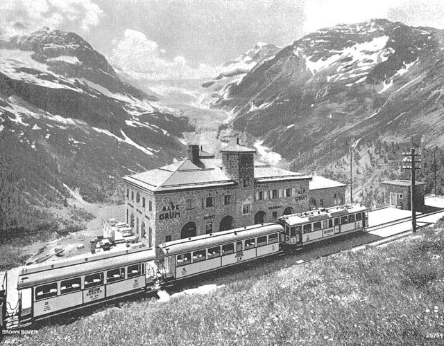 Berninabahn Alp Gruem