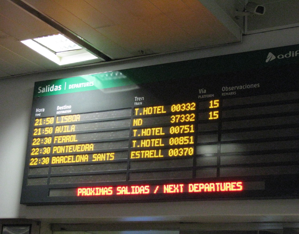 night trains from Madrid in 2014