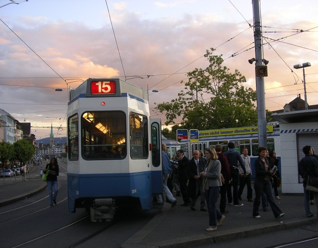 trams at central