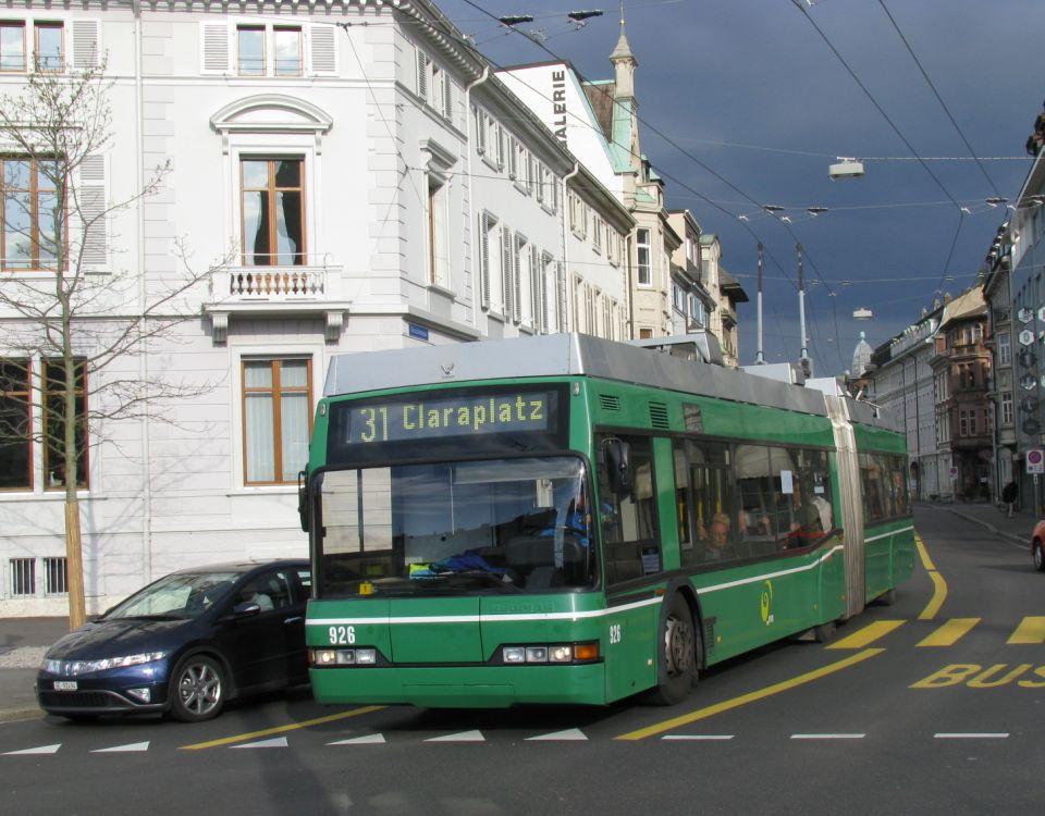 trolleybus claraplatz