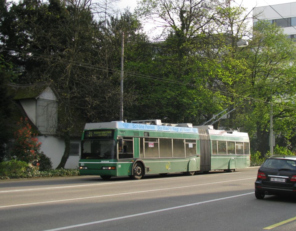 basel neoplan trolleybus