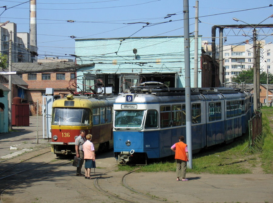mirage and tatra trams in vinnitsa