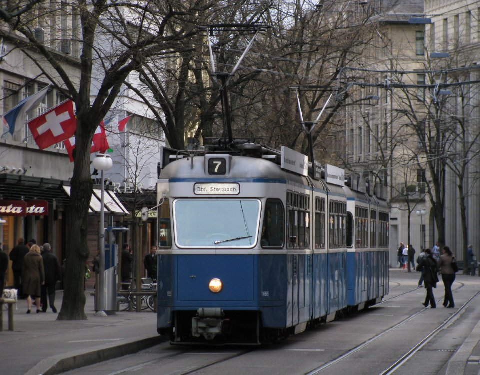 mirage tram on bahnhofstrasse