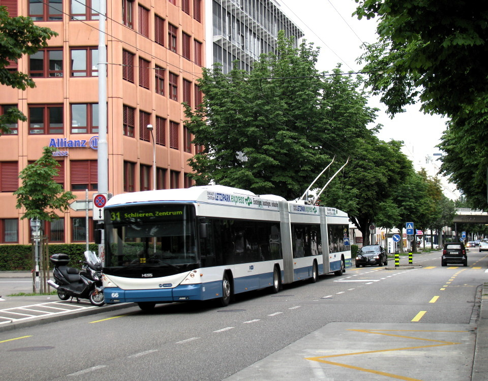 hess lightram3 double articulated trolleybus
