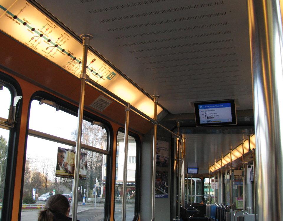 interior of Tram 2000