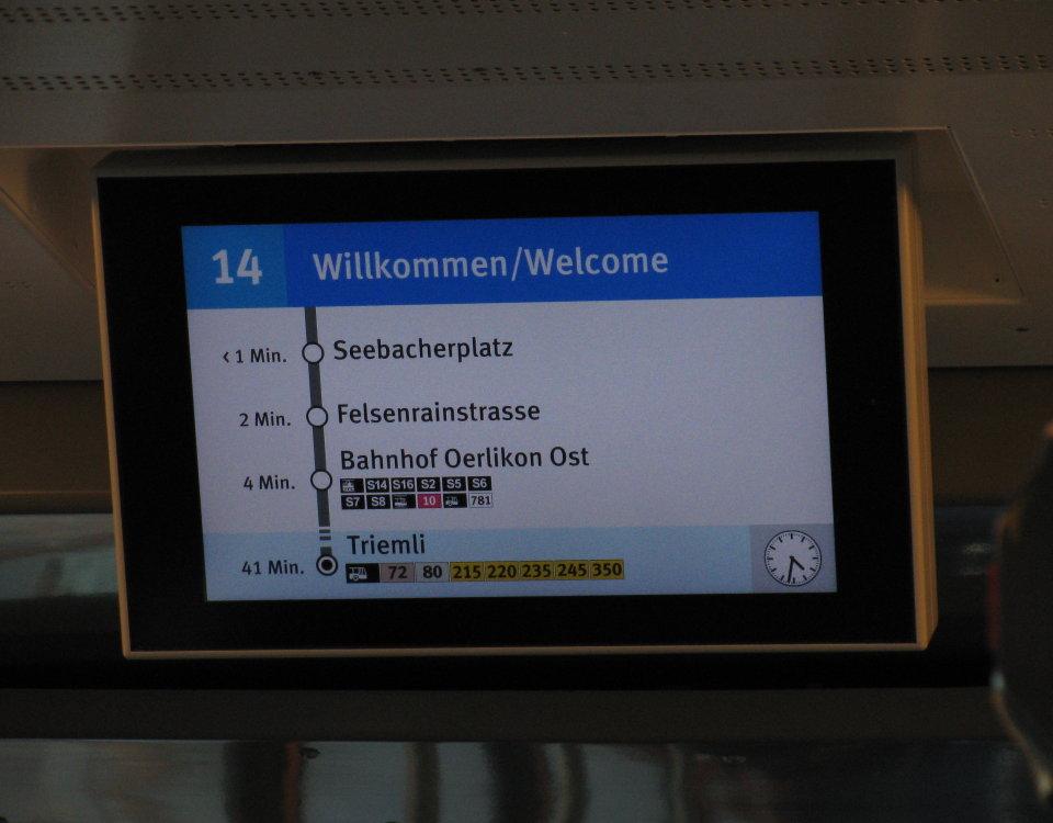 display screen in Tram 2000