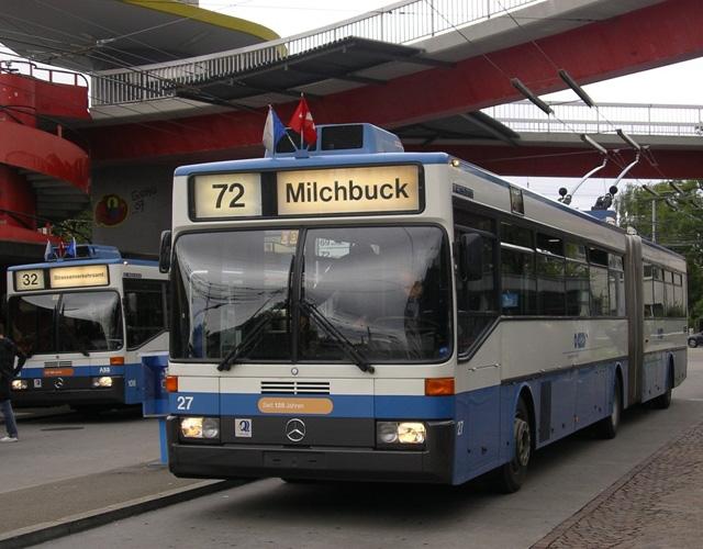 Zurich GTZ trolleybus 27