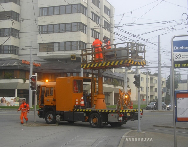 trolleybus overhead repairs