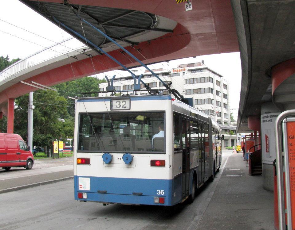 Mercedes ABB O405 GTZ trolleybus Zürich