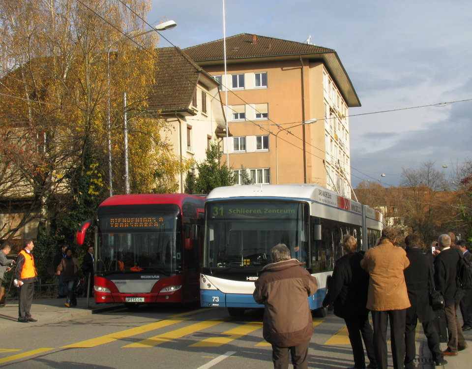 Barquisimeto and Zurich trolleybuses meet in Schlieren